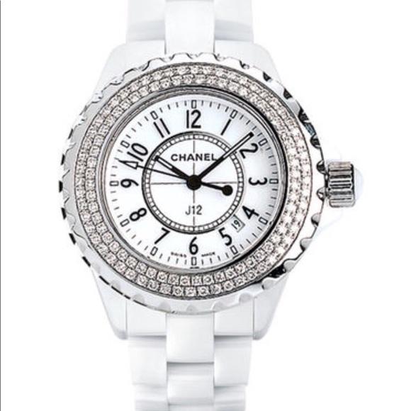 Chanel J12 Diamond White Ceramic Watch H0967
